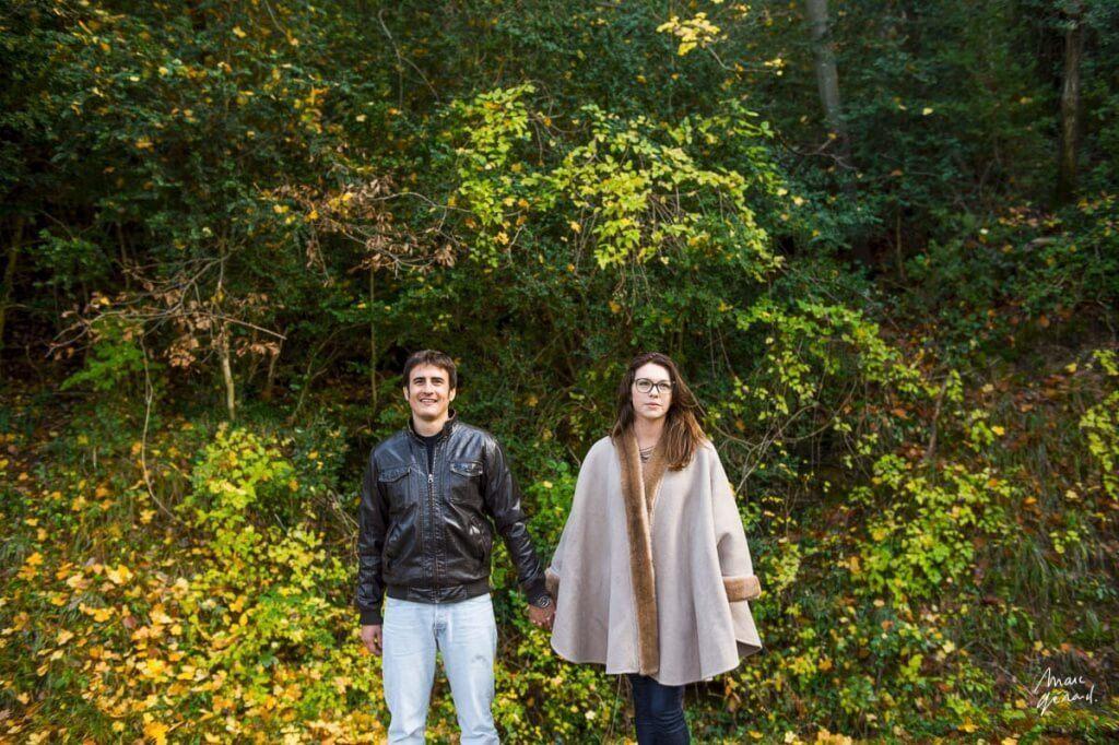 Séance photo de couple automnale Montpellier