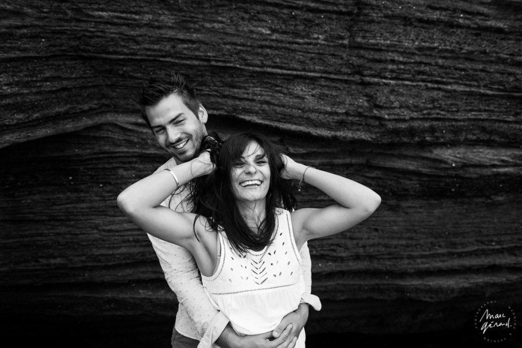 Sous la pluie, séance engagement Béziers - Marc Gérard Photography