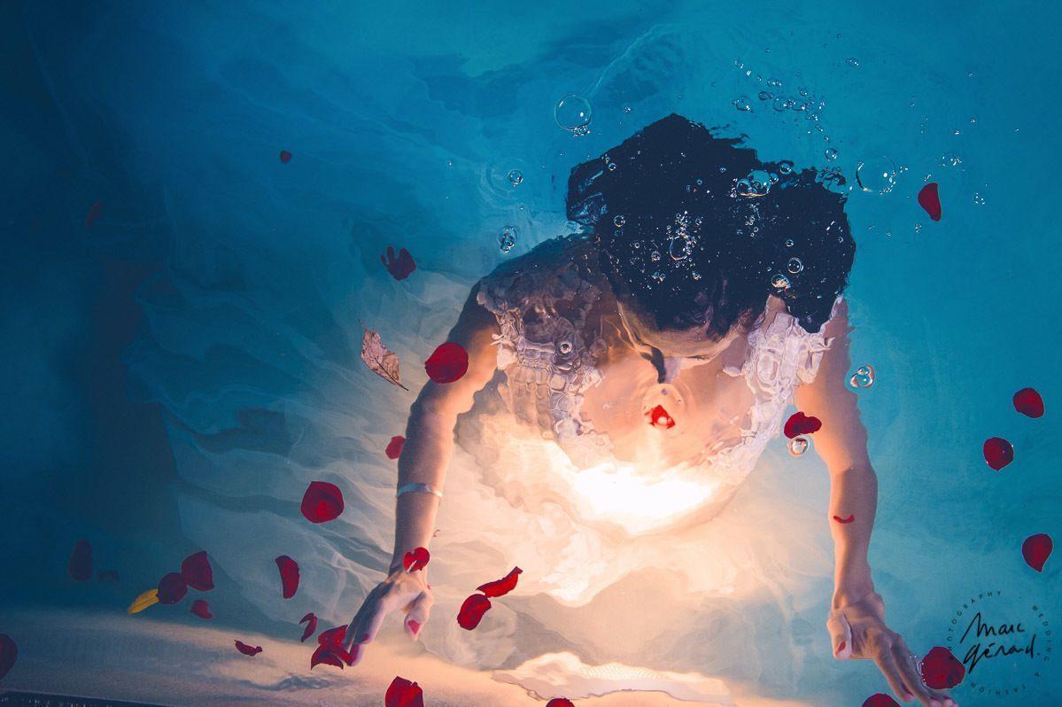 Trash the dress aquatique, béziers par Marc Gérard Photography