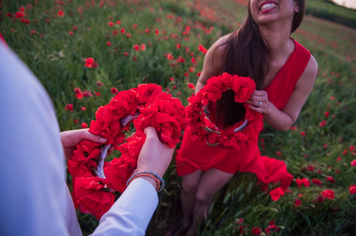 Séance photo engagement Hérault : Alexie et JM