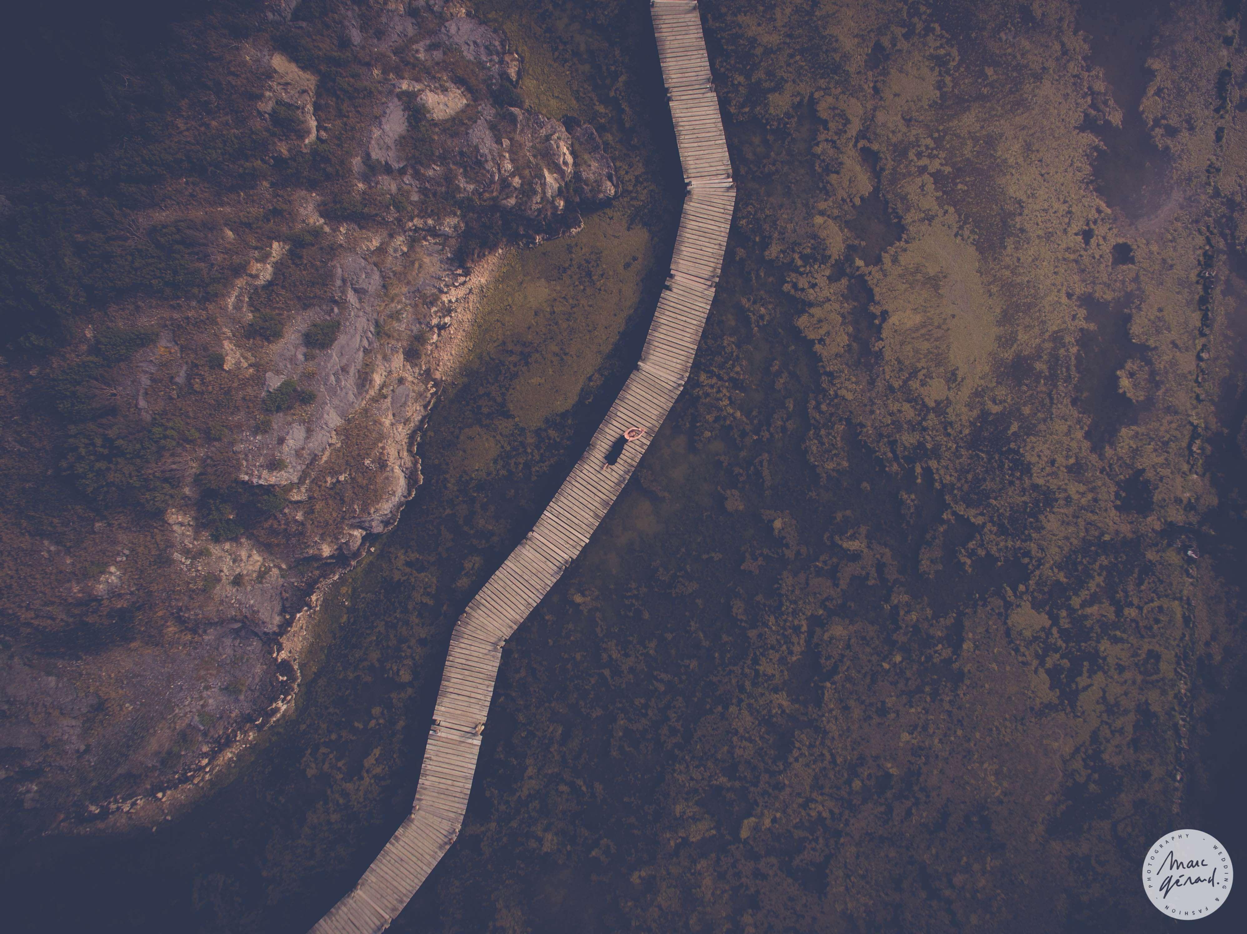 Drone, pontons de Peyriac de Mer