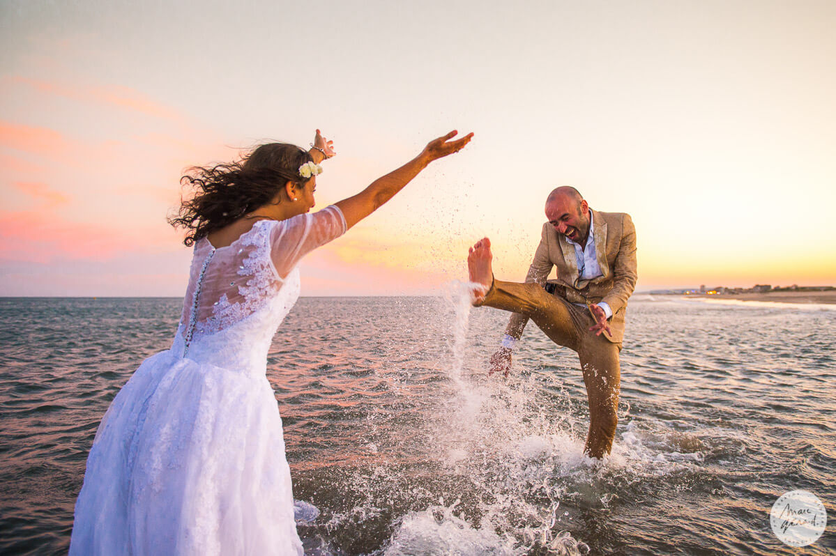 Trash The Dress au couché du soleil – Béziers