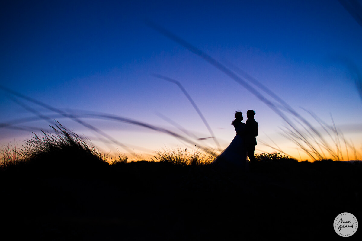 Trash the dress au couché du soleil - Béziers