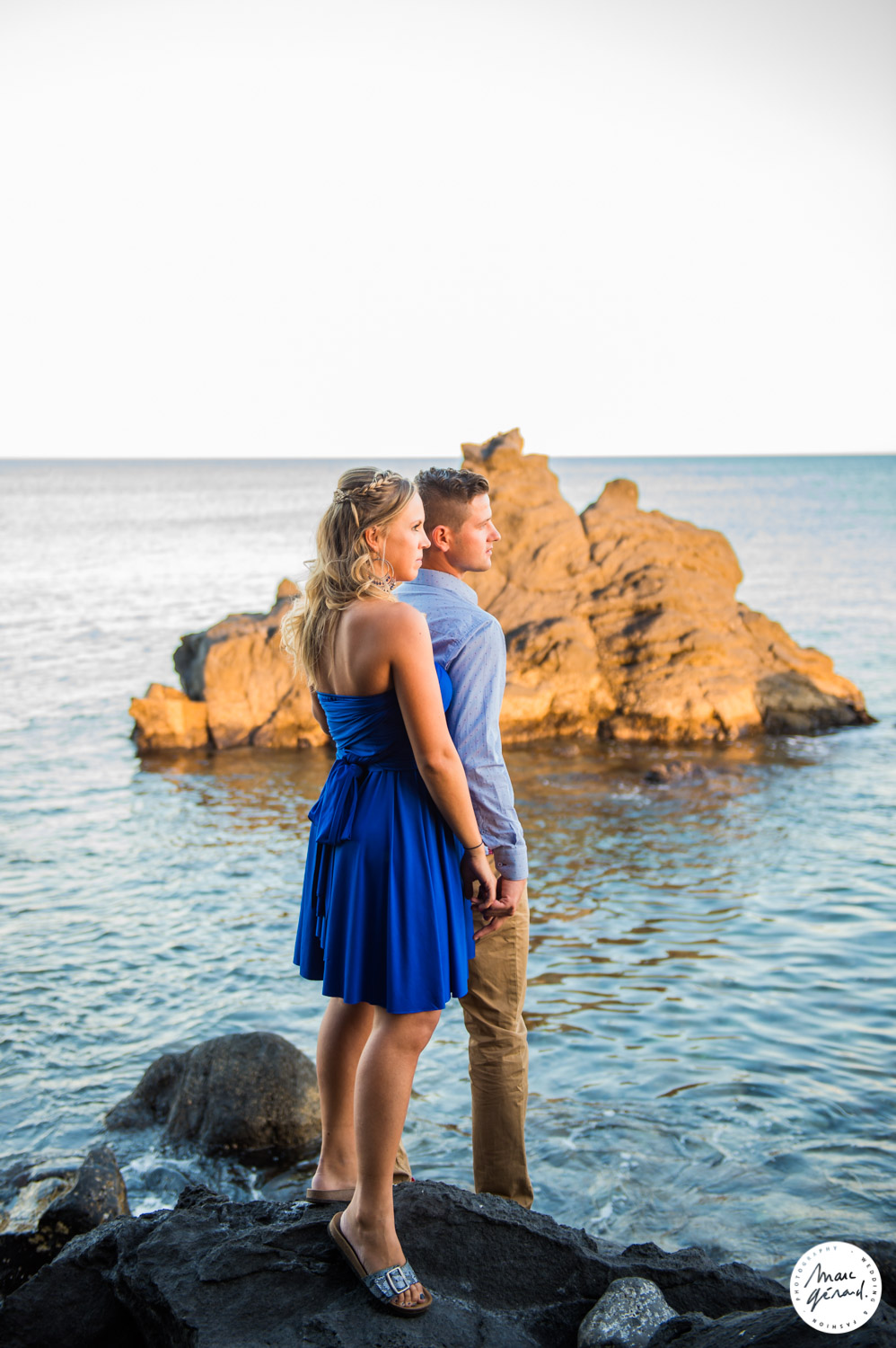 Seance photo de couple plage Cap Agde