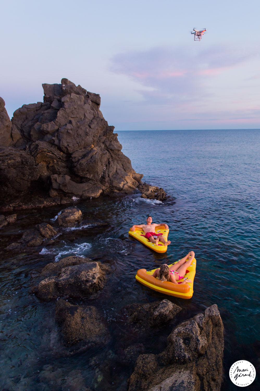 Seance photo de couple plage Cap Agde